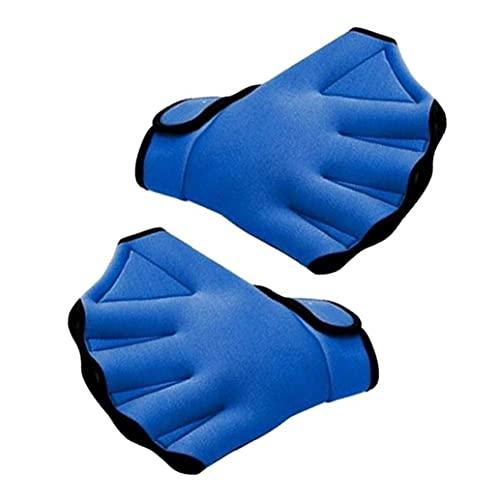cdzhouji Schwimmen Hand Paddel Training Schwimmhandschuhe Fingerlose Webbett Wasserbeständigkeit 1 Paar Schwimmen Handschuhe Blau Schwimmen Handschellen