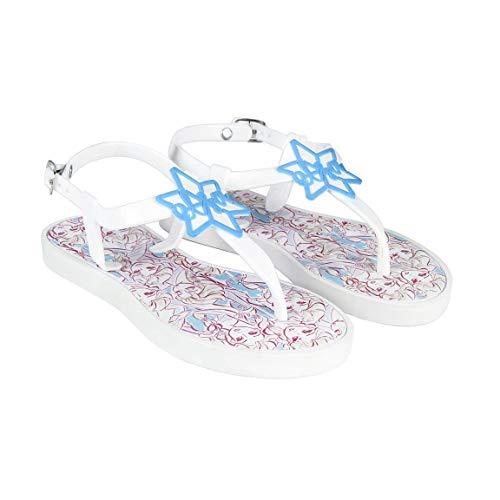 Sandales - Tongs pour Fille Reine des Neiges | Semelle intérieure à Motifs | Etoile Elsa en Caoutchouc 3D sur Le Dessus (Numeric_22)
