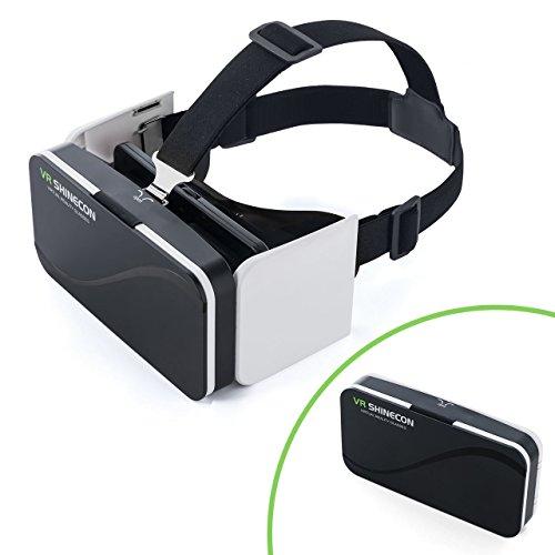 サンワダイレクト 3D VRゴーグル 折りたたみ対応 iPhone / Androidスマホ対応 動画視聴 ヘッドマウント レンズ位置調整 400-MEDIVR6