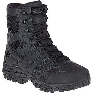 "Merrell Men's Moab 2 8"" Tactical Waterproof Military Boots, Black, 12"