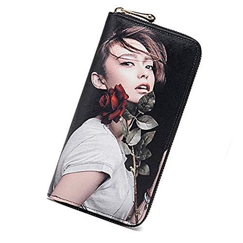 Personalisierte Brieftasche Frauen Foto Geldbörse Brieftasche nach Maß große Kapazität Geldbörse Kartenhalter Fall