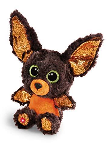 NICI Glubschis: Das Original – Glubschis Halloween Fledermaus 15 cm I Kuscheltier Fledermaus mit großen Augen I Flauschiges Plüschtier mit Glitzeraugen ab 0 Monaten I braun / orange – 46305