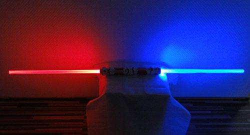 Doppel Leuchtschwert 110 cm Deko Laserschwert Lichtschwert Schwert leuchtet 3 Farben wählbar