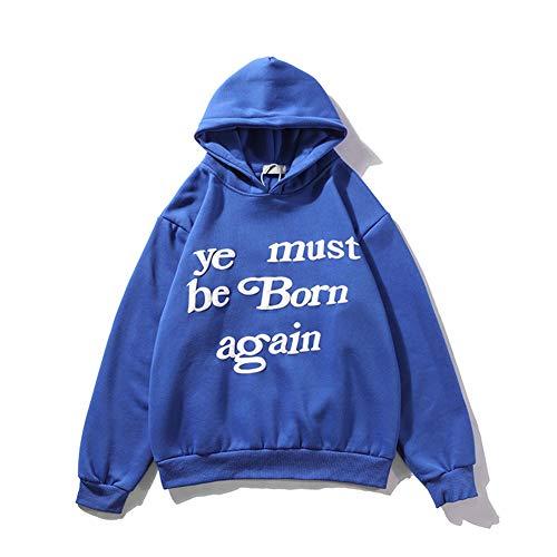 AvivahcS Moda Hip Hop Kanye debe nacer de nuevo carta de impresión de espuma con capucha para hombres y mujeres