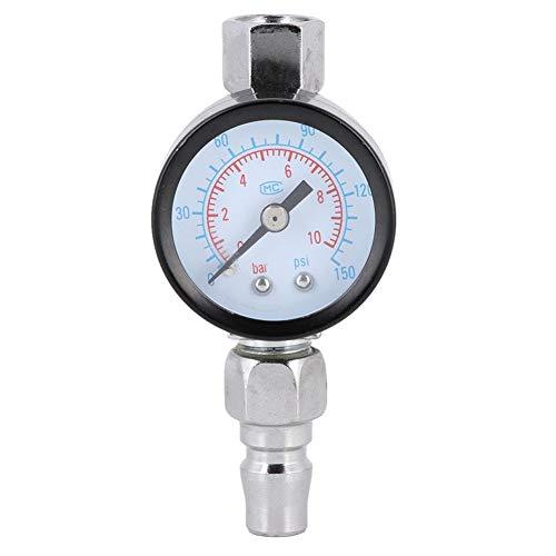 KIMISS Regulador de aire de pistola de pulverización ajustable Mini con indicador de presión Control de diafragma Regulador de válvula de ajuste de aire de pintura automática
