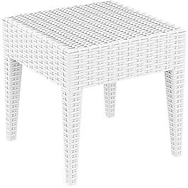 RESOL Ipanema 45×45 Table auxiliaire d'extérieur. Résine tressée Type rotin | Table Basse d'appoint pour Le Jardin…