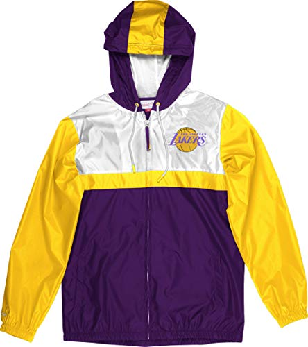 Mitchell & Ness Los Angeles Lakers NBA Margin of Victory Windbreaker Jacket Jacke Anorak