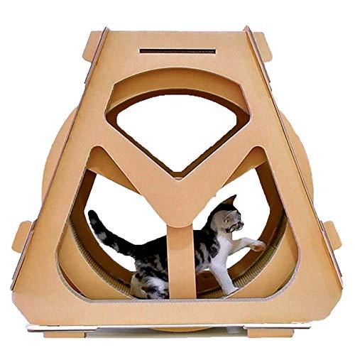 ZYY-Home curtain Wellpappe Laufband, Riesenrad Haustier Möbel Katze Kratzbrett Greifen Krabbeln Regal Rad Rotation,A