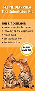 Cat Diarrhea Sample Collection Kit for Sending Sample to Zoologix Lab for Testing