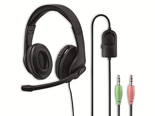 Hama PC-Office-Headset HS-P200, Stereo, Schwarz, Universell