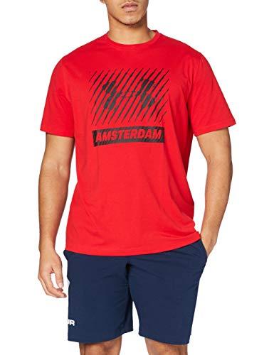 Under Armour Amsterdam Big Logo SS T Camiseta de Manga Corta, Hombre, Rojo (600), S