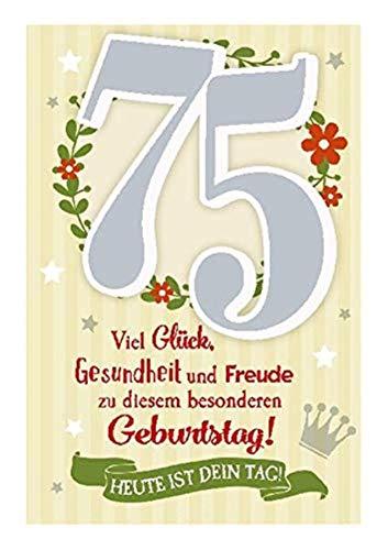 Depesche 5698.096 - Glückwunschkarte mit Musik, 75. Geburtstag