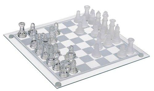 HAC24 Design Schachspiel aus echtem Glas