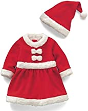 Kids Clothing Girl Santa Claus Costume + Hat Set, Height:140cm Boys Clothing