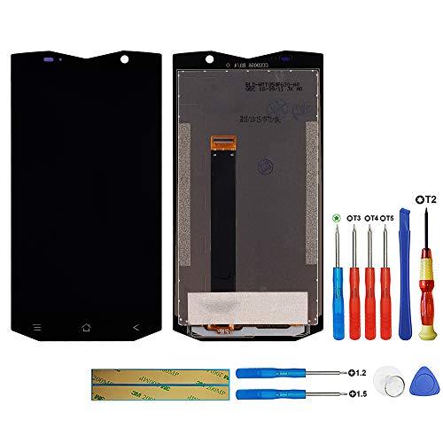 swark - Pantalla LCD compatible con Blackview BV8000 PRO/BV8000 (negro, sin marco), pantalla táctil LCD, digitalizador, cristal y herramientas