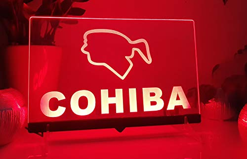 Cohiba Cigars Leuchtschild LED Neu Schild Cigaren Neon/neonschild zum hinstellen