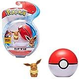 PoKéMoN Clip 'N' Go Eevee y Poké Ball, Contiene 1 Figura de 5 cm y 1 Poké Ball, New Wave 2021, con Licencia Oficial