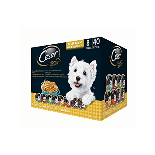 An Item of Cesar Home Delights Wet Dog Food, Variety Pack (3.5 oz, 40 ct.) - Pack of 1