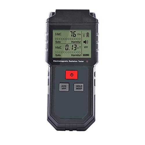 HIAO Lector EMF D3, probador de radiación de microondas, medidor digital LCD EMF, multímetro digital Emmisions Tester para Inspecciones EMF domésticas, oficina, exterior y caza de fantasmas