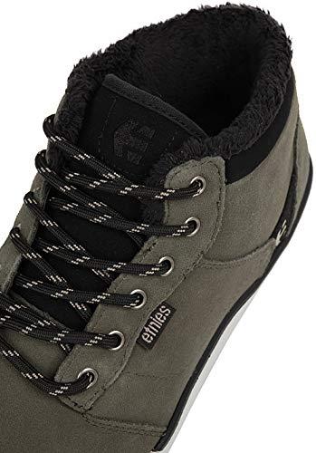 Etnies Jefferson Mid Scarpe da Skateboard Uomo, Grigio (302-Olive/Black 302), 42 EU