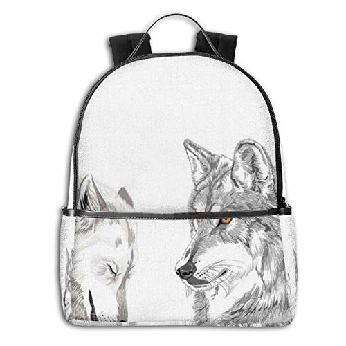 Mochilas Tipo Casual, Mochilas de Marcha, College Backpacks for Women Girls,Two Wooden Chairs On Relaxing Lakeside At Sunset Algonquin Provincial Park Canada,Casual Hiking Travel Daypack