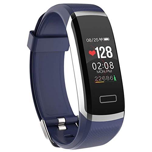 GT101 Fitness Tracker Smart Watch Admite La Frecuencia Cardíaca De Bluetooth 4.0 Y El Monitoreo De La Presión Arterial IP67 Impermeable, Adecuado para El Brazalete De Fitness De Android iOS,C