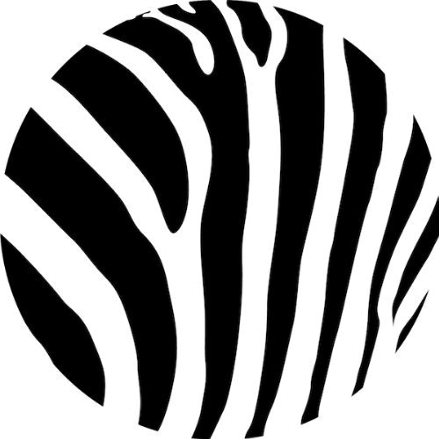 12  Zebra Print Edible Image Cupcake Toppers by A Birthday Place