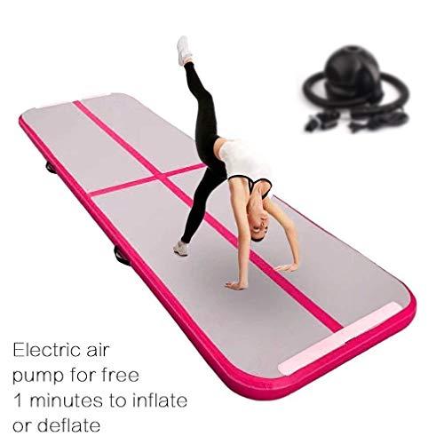 FBSPORT 10cm hoch 2M Breit 11M Aufblasbar Gymnastik Tumbling Matte Air Track,Trainingsmatte mit Luftpumpe,Gymnastikmatte mit Tragetasche
