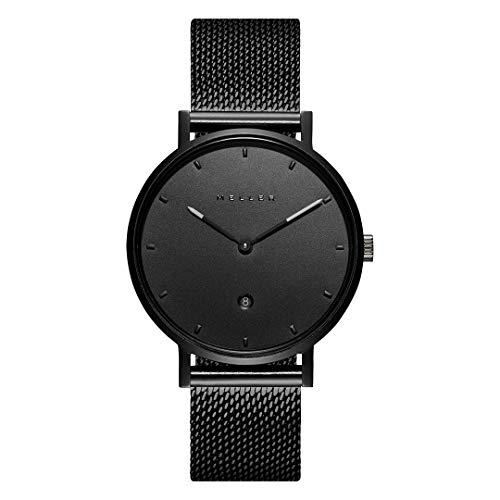 Meller Unisex Erwachsene Analog Quarz Uhr mit Edelstahl Armband W1N-2BLACK