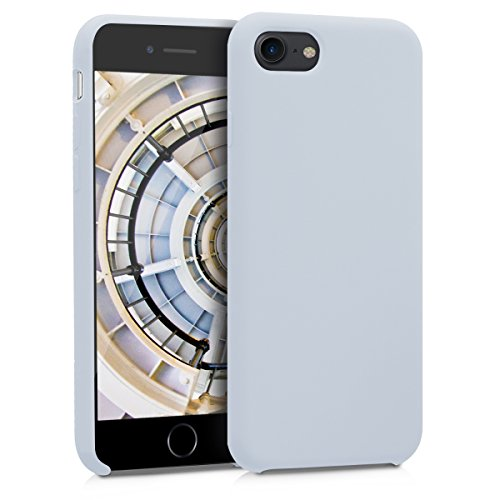 kwmobile Apple iPhone 7 / 8 Cover - Custodia per Apple iPhone 7 / 8 in silicone TPU - Back Case cellulare grigio chiaro opaco