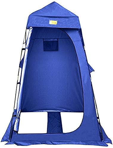 SHWYSHOP Tiendas de campaña para acampar al aire libre, tienda de ducha, tienda de privacidad portátil, impermeable, protección solar, color azul,