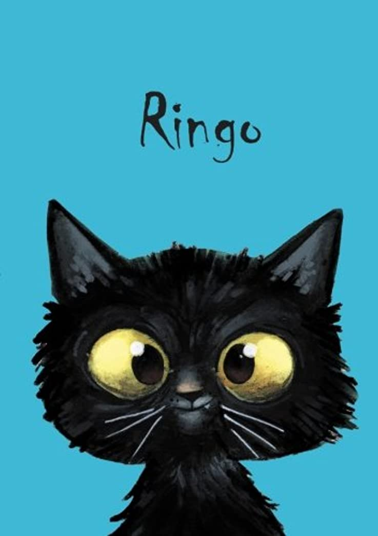 強盗側溝読み書きのできないRingo: Ringo - Katzen - Malbuch / Notizbuch / Tagebuch: A5 - blanko