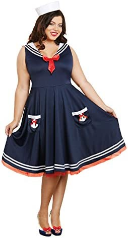 Dreamgirl Women s Aboard Plus Size Blue 1X 2X product image