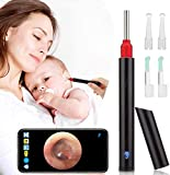 HealthneSS Ear Wax Removal,Wireless Otoscope Earwax Removal Tool 1080P HD WiFi Ear Endoscope with LED Light,3.5mm Mini Visual Ear Inspection Camera Silicone Ear Pick Cleaning Kit for Adults Kids Pets