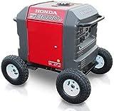 Brand New All Terrain Wheel Kit - fits Honda EU3000is Generator Never Flat Tires RED Color