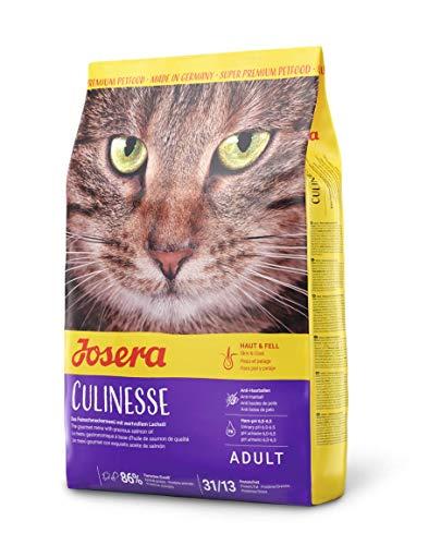 JOSERA Culinesse, kattenvoer met zalmolie, super premium kattenvoering voor volwassen indoor en outdoor katten, per stuk verpakt (1 x 400g)