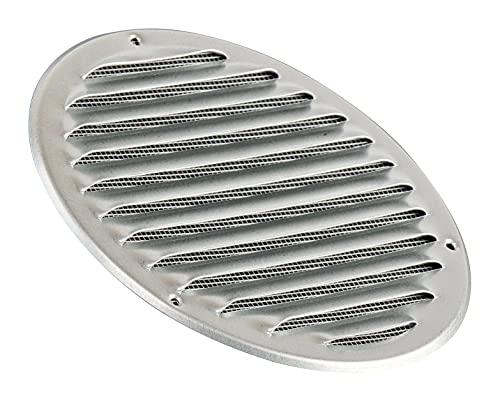 Rejilla de ventilación redonda de metal galvanizado, 160 mm, con protección contra insectos, rejilla de entrada de aire