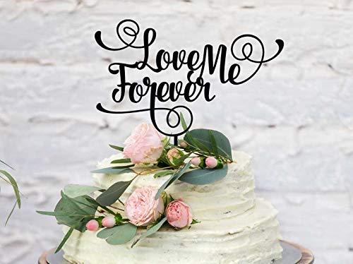 Voor altijd liefde bruiloft taart topper liefde me voor altijd bruiloft taart decoratie gemaakt om Rose goud spiegel zilver spiegel meer kleuren bestellen