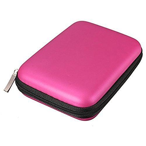 Ogquaton - Funda portátil con Cremallera para Disco Duro Externo, Disco Duro, batería Externa y cámara GPS, Color Rojo