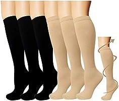ACTINPUT 3/7 Pares Calcetines de compresión para Mujeres y Hombres 20-25 mmHg es el Mejor atlético, Correr,Escalar...