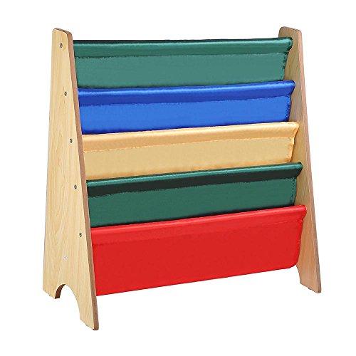 ReaseJoy Wooden Children's Bookcases Kids Book Shelf Storage Rack Organizer Display Holder Nursery Room Natural