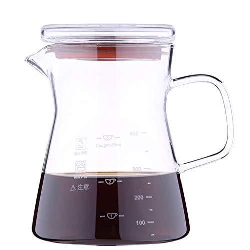 YQQ-Cafetière Verre Café Partage Pot d'accueil à la Main Brewing Coffee Pot Hand Made Machine à café Glace Goutte à Goutte Coffee Pot (Taille: 450 ML)