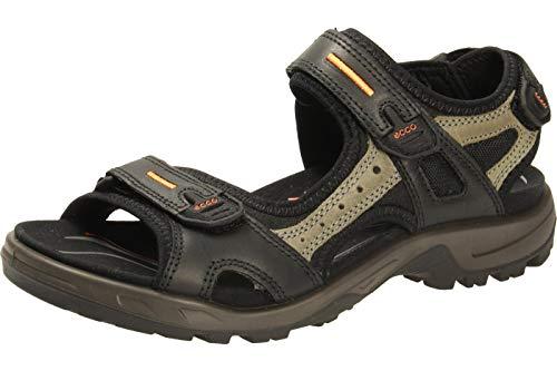 ECCO Men's Yucatan Sport Sandal, Black/Mole/Black Oil Nubuck, 9-9.5