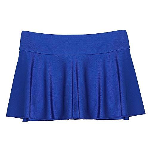 Leder-Dessous für Sex, Damen, Mini-Röcke, dehnbar, aktiv, Mini-Tennisröcke mit Innen-Shorts, Gymnastikröcke, Abend-Party, sexy Clubwear, Blau