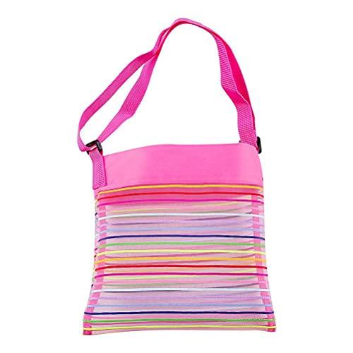 Tixiyu Bolsa de playa de malla, bolsa de juguete, bolsa de playa plegable, mochila para picnic de playa, piscina al aire libre, toallas de viaje para niños, organizador de arena