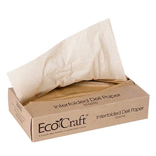 Bagcraft Papercon 016010 10 3/4' x 10' EcoCraft Interfolded Dry Wax Deli Paper