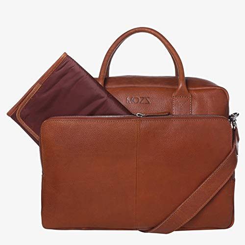 Simply Small Cognac, wikkeltas, luiertas, diaperbag, nappy bag, Mommy Bag, baby bag, lederen wikkeltas