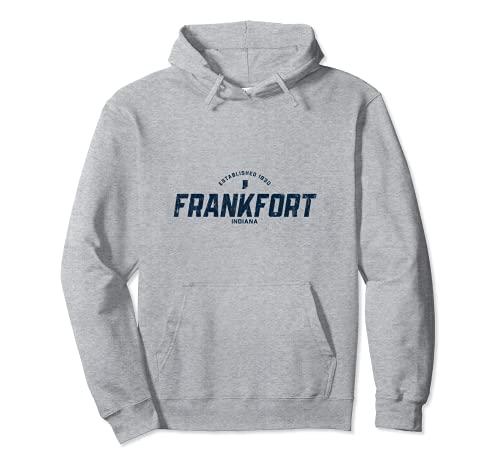 Frankfort Indiana IN ヴィンテージ アスレチック ネイビー スポーツロゴ パーカー