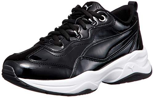 Puma Damen Cilia P Sneaker, Schwarz Silber Weiß, 39 EU