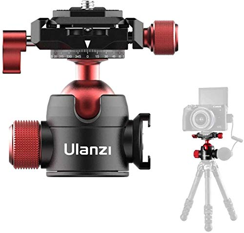 Mini Ballhead, Camera Panoramic Tripod Ball Head 360°with 1/4 Arca-Swiss Quick Shoe Plate and Acra Swiss for DSLR Camera Camcorder Tripod Monopod, Load up to 44 pounds/20 kilograms